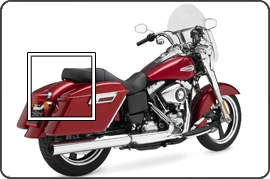 Saddlebag Lid Protection for the FLD Dyna Switchback
